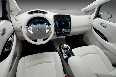 wallpaper nissan leaf electric cars nissan interior city cars  electric cars