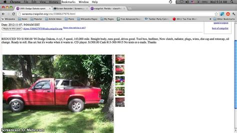Used Cars For Sale St Fl by Craigslist Bradenton Florida Cars Trucks And Vans Cheap