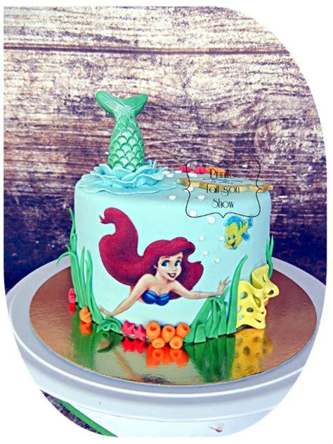 cuisine gourmande gateau ariel la sirène mermaid ariel cake