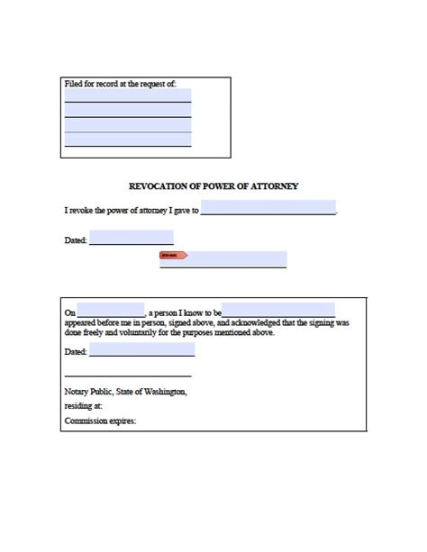 washington real estate only power of attorney form power of attorney power of attorney