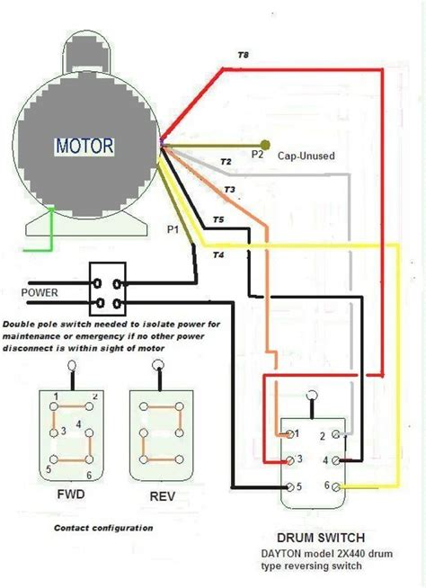 Wiring Diagram For Volt Single Phase Motor