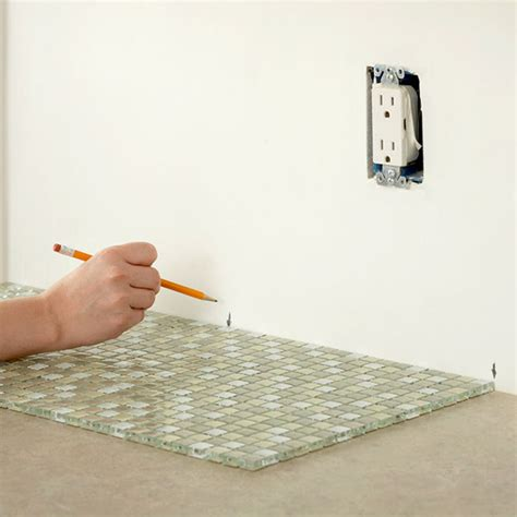 how to install glass mosaic tile kitchen backsplash install a kitchen glass tile backsplash