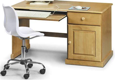 julian bowen surfer pine study desk white swivel chair