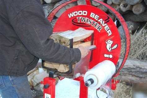 wood beaver twister firewood bundler wrapper