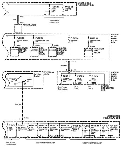 acura integra 1998 2001 wiring diagrams power