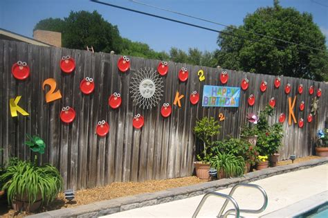 backyard fence decorating ideas triyae backyard fence decorating ideas various