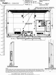 Sony Kdl 32bx320 Layout1 User Manual Dimensions Diagram