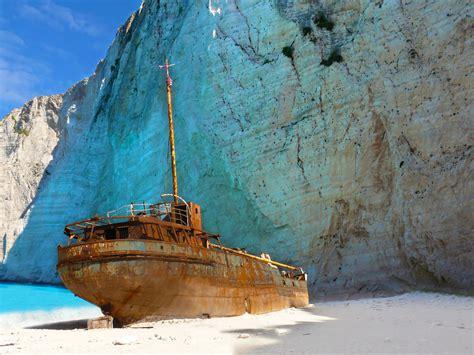 Ship 'resting At Zakynthos Navagio Beach Deteriorating