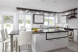 Cuisine Et Salle De Bain : armoires de cuisine contemporaine thermoplastique blanc ~ Dode.kayakingforconservation.com Idées de Décoration