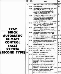 1967 Buick Climate Control Repair Shop Manual Riviera