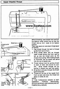Brother Vx 808 809 Sewing Machine Threading Diagram