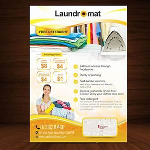laundry flyers templates - playful personable coin flyer design for yellowfin