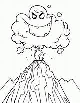Volcano Eruption Coloring Pages Drawing Ash Printable Cartoon Cloud Deadly Print Colouring Volcanoes Volcanos Emoticon Ghost Dinosaur Clipart Netart Popular sketch template