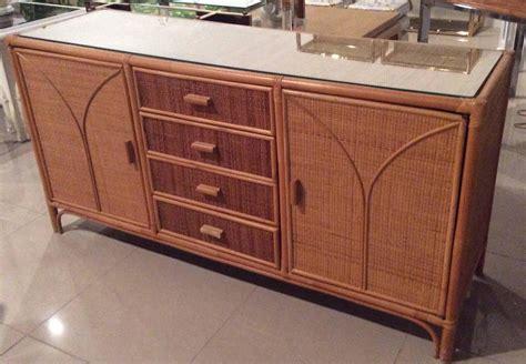 Wicker Sideboard rattan sideboard wicker vintage credenza buffet dresser
