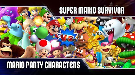 Super Mario Survivor 1 Mario Party Playable Characters