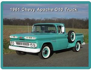 1961 Chevy Apache C10 Short Bed Truck Refrigerator    Tool Box Magnet