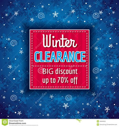 blue christmas background and sale offer stock vector image 46846022