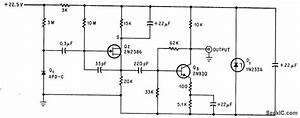 Junction Diode Alpha Detector - Power Supply Circuit - Circuit Diagram