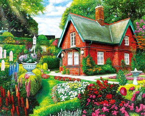 summer cottage jigsaw puzzle puzzlewarehousecom