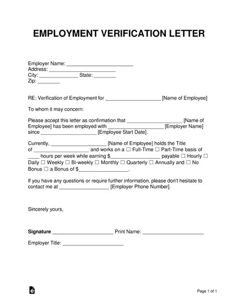 Free Employment (Income) Verification Letter - PDF | Word | eForms – Free Fillable Forms
