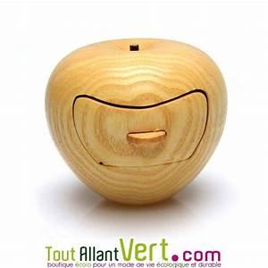 Boite à Bijoux Bois : boite bijoux forme pomme en bois de cerisier fabrication artisanale ~ Teatrodelosmanantiales.com Idées de Décoration