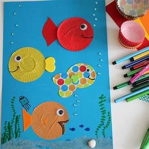 Basteln Sommer Kinder : basteln im sommer fische in einer unterwasser welt ~ Markanthonyermac.com Haus und Dekorationen