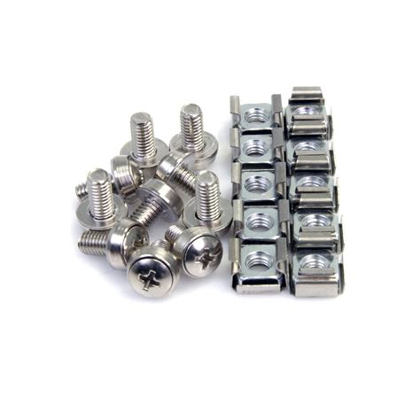 cabinet mounting screws lowes amazon com startech com m6 mounting screws and cage nuts