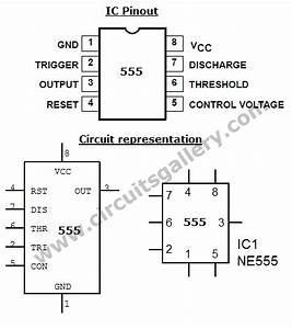 astable multivibrator using ne 555 timer ic circuit With 555 timer