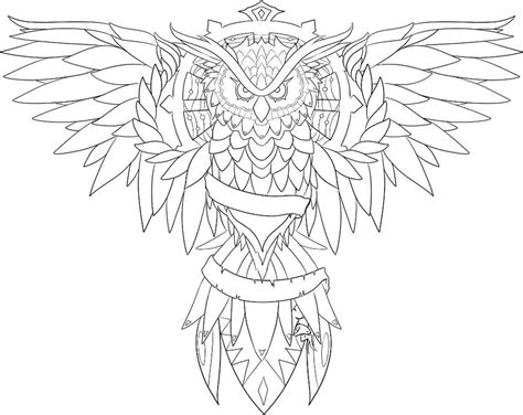 owl outline drawing owl by loulalethal on deviantart