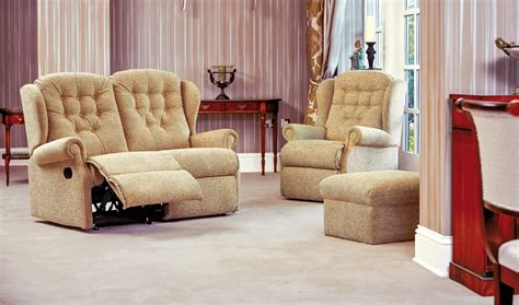 Small 2 Seater Settees by Lynton Small Fabric Reclining 2 Seater Settee Sherborne