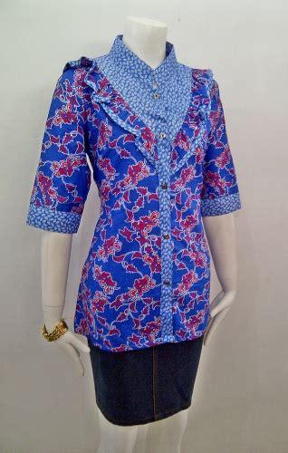 model baju batik kerja wanita cantik  elegan