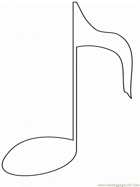 note coloring page  simple shapes coloring
