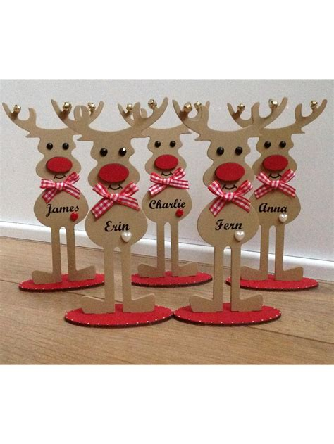 personalised freestanding reindeer