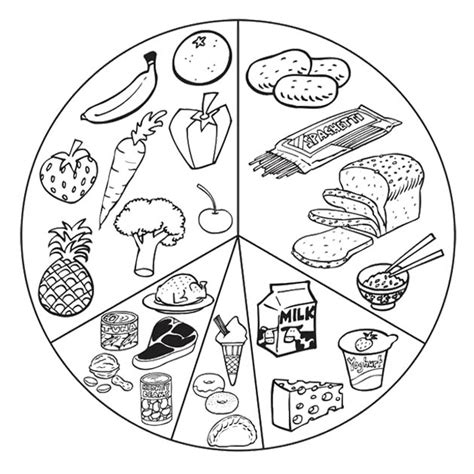 cuisine color printable healthy food coloring pages with list food