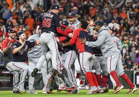 nationals win  world series title storming