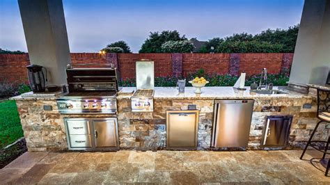 materials for kitchen countertops outdoor kitchens creekstone outdoor living