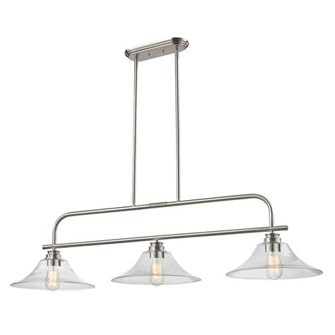 brushed nickel kitchen island lighting filament design 3 light brushed nickel island light 7969