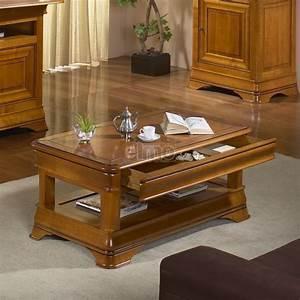 Table Basse De Salon Merisier Massif Style Louis Philippe