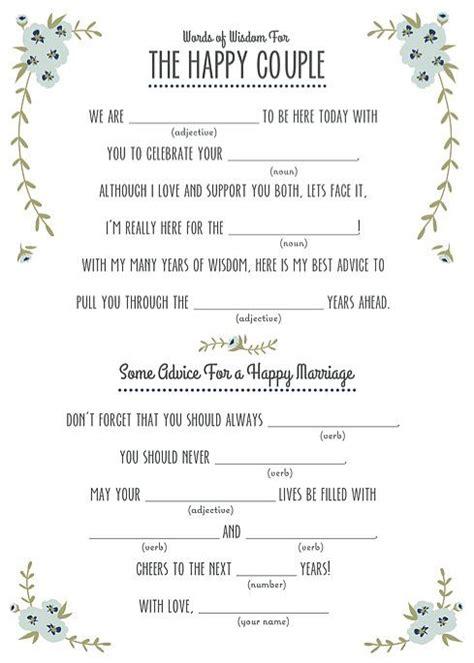 ideas  wedding mad libs  pinterest mad