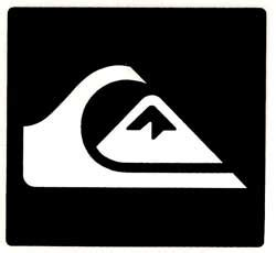 Tshirt Quiksilver Logo White quiksilver mountain wave logo sticker white black for