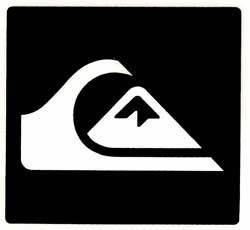 Quiksilver Mountain Wave Logo Sticker - White / Black For ...