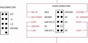 Front Usb  U0026 Audio Connectors