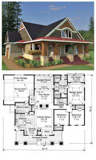 craftsman style house floor plans craftsman bungalow style home plans house plan 42618 is a craftsman style design with 3