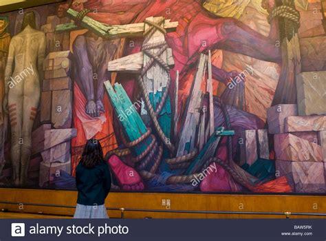 murals in mexico city palacio de bellas artes in mexico city interior murals in stock photo royalty free image