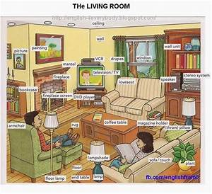 English for beginners the living room english for Describe furniture in your home