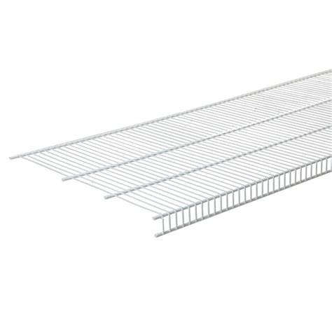 closetmaid superslide shelving closetmaid superslide 72 in w x 12 in d white ventilated