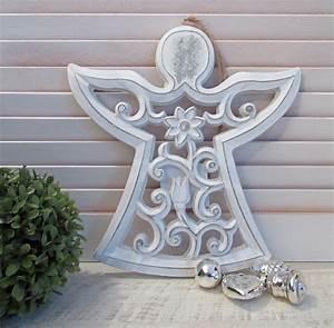 Deko Engel Holz : gro er deko engel holz ornament weiss weihnachten callunacasa ~ Orissabook.com Haus und Dekorationen