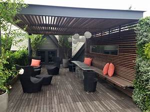 Private Roof Terrace And Greenwall Landscape Design