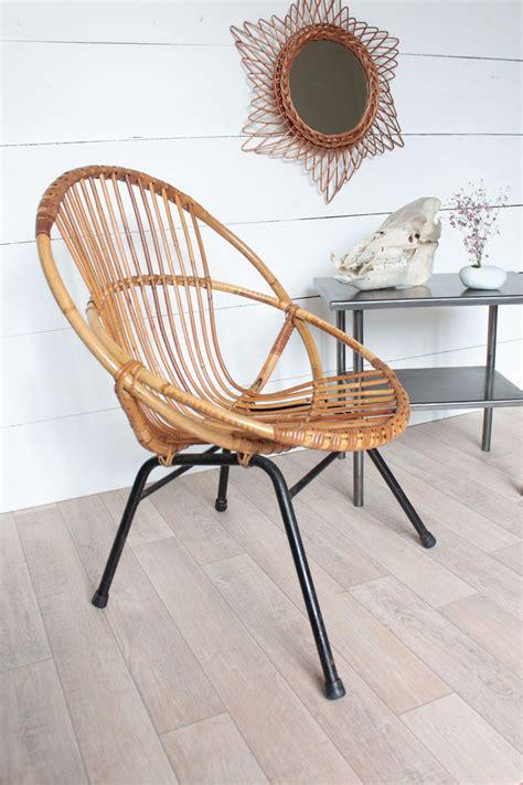 d馗o chambre vintage fauteuils coquille vintage en rotin et table d 39 atelier trendy