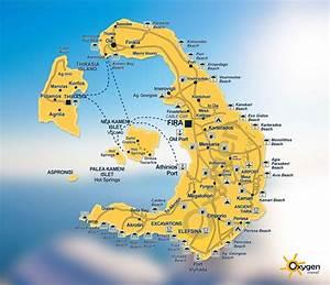 Santorini Grecia Mapa
